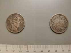 2 Francs from Strasbourg with Louis Philippe I, King of the French
