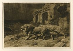 Lions and Egyptian Ruins