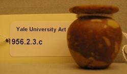 Mottled ungent vase