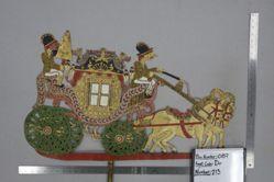 Shadow Puppet (Wayang Kulit) of Kereta, from the set Kyai Drajat