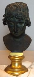 Bronze Portrait Bust of Antinous