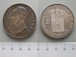 2 1/2 Gulden of William II of the Netherlands
