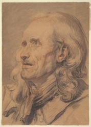 Head of an Old Man, Study for A Marriage Contract