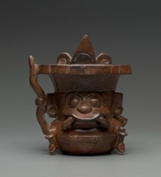 Vessel in the Shape of Tlaloc, God of Rain