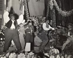 """Louis Armstrong as """"Bottom"""" in an all black jazz production of A Midsummer Night's Dream"""