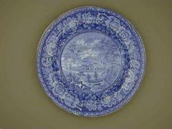 Plate with a view of Hobart Town (New York)