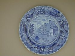 Plate with a View of City Hotel, New York