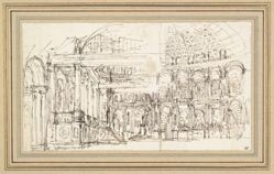 Study of a Stage Design for the Hall of a Palace