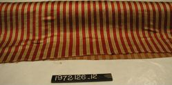 Red and gold striped silk