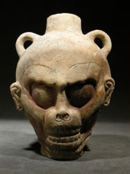 Vessel in the Shape of a Monkey Skull