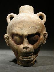 Vessel in the Shape of a Monkey Skull