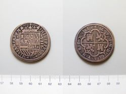 Silver 8 Reales of Philip II from Segovia