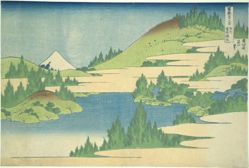 Lake Hakone in Segami Province, from the series Thirty-six Views of Mount Fuji