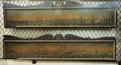 Pair of Valances with Sea Scapes