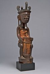 Seated Male Ancestor Figure (Adu Zatua)
