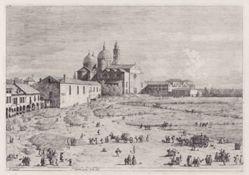 S. Giustina in prà della Vale (Santa Giustina in Prato della Vale), from the series Vedute (Views)