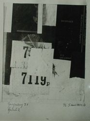 "Photograph of Kurt Schwitters's ""Drawing I9, Lever 2,"" 1920, collage [YUAG 1953.6.70]"