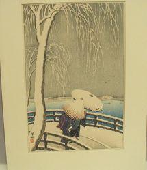 Snow on Willow Bridge (Yanagi-bashi no Yuki)