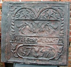 """Stove plate, """"Hereford of 1757"""""""