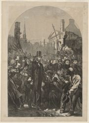 President Lincoln Entering Richmond, April 4, 1865, from Harper's Weekly