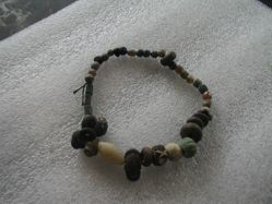 Glass, faience and stone bead necklace
