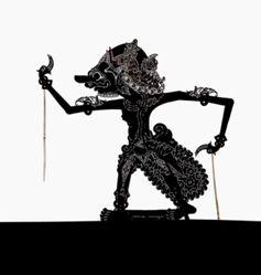 Shadow Puppet (Wayang Kulit) of Joyosengoro, from the consecrated set Kyai Nugroho