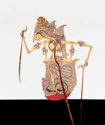 Shadow Puppet (Wayang Kulit) of Guru or Sang Hyang Jagatpratingkah, from the consecrated set Kyai Nugroho