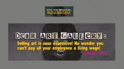 Dear Art Gallery Billionaire, from the Guerrilla Girls' Portfolio Compleat 2012–2016 Upgrade