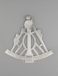 Badge of the New York Nautical Institution for Jacob Baush