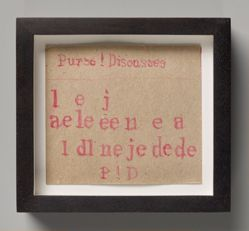 James Castle, Untitled [Purse! Disousses] (recto and verso)
