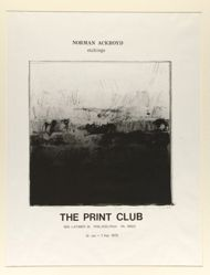 Norman Ackroyd etchings, The Print Club...10 Jan. – 7 Feb. 1975