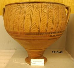 Deep Krater with two Vertical Handles