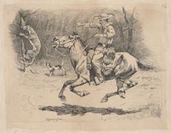 Spurring His Horse in Pursuit