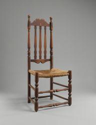 Banister-back side chair