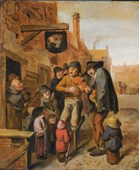 Musicians Outside a Tavern