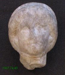 Small head of a woman