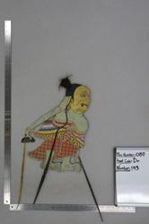 Shadow Puppet (Wayang Kulit) of Limbuk, from the set Kyai Drajat