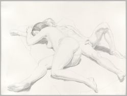 Reclining Male and Female Nudes
