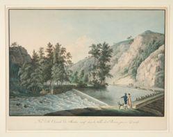 Vue de la Cascade du Moulin neuf dans la Vallee de Plauen pres de Dresde