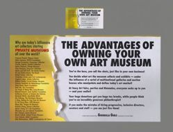 Advantages of Owning Your Own Art Museum, from the Guerrilla Girls' Portfolio Compleat 2012–2016 Upgrade