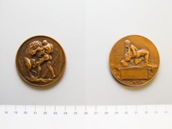 French presentation medal portraying Hercules