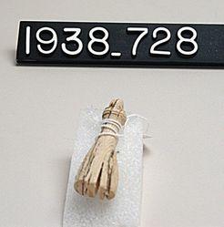 Bone Pendant (or Hinged Ivory Strap Terminal)