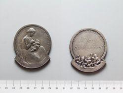 Silver Plaquette from Belgium of Alimentation de l'Enfance