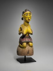 Headdress in the Form of a Kneeling Female Figure