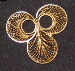 Pin with Filigree Design