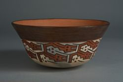 Bowl with interlocking designs