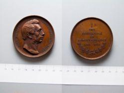 Bronze Medal from Belgium Honoring Ferdinand Piercot, Mayor of Liège
