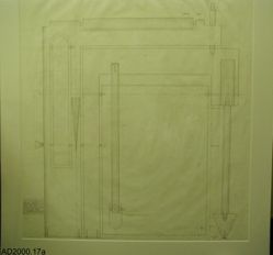 """Preliminary drawings for the prototype of """"Folding chair with separate hanging shelf"""""""