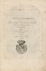 Title page from the series I sette sacramenti (The Seven Sacraments)