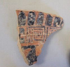 Sherd with tongues and stopped meander